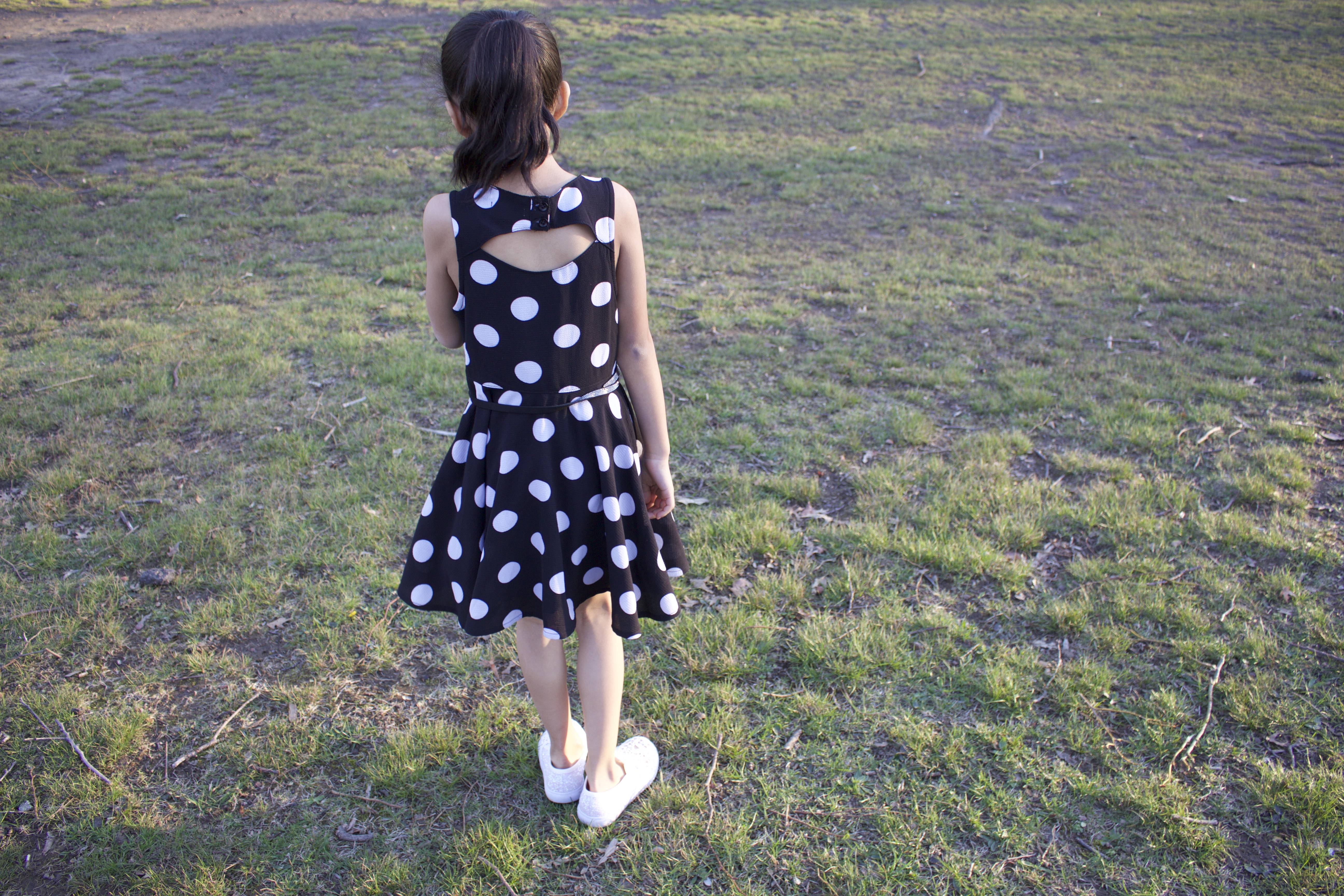 KidPik Black polka dot dress
