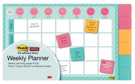 Post it weekly planner